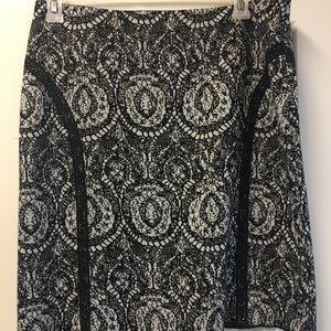 Lace Print Skirt